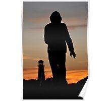 Seaman Silhouette Poster