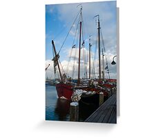 Schooners in the Netherlands Greeting Card