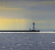 Returning to Port at Sunset by Mikell Herrick