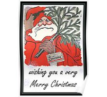 Wishing You A Very Merry Christmas Greeting  Poster