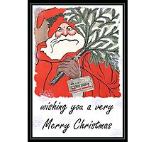 Wishing You A Very Merry Christmas Greeting  Photographic Print