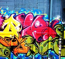Graffiti diptych B by rlnielsen4