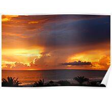 Threatening Sunset Poster
