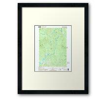 USGS TOPO Map New Hampshire NH Teakettle Ridge 329825 2000 24000 Framed Print