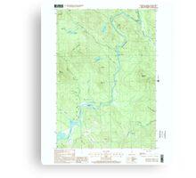 USGS TOPO Map New Hampshire NH Teakettle Ridge 329825 2000 24000 Canvas Print