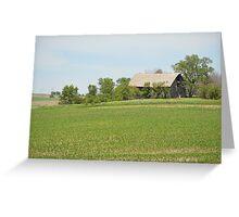 Barn Hidden Among The Trees Greeting Card