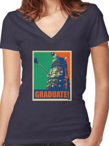 Universirty of Florida Dalek Women's Fitted V-Neck T-Shirt