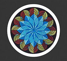 Sacred Mandala Card w/grey background by TheMandalaLady
