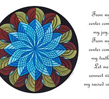 Sacred Mandala Card Full Color w/message by TheMandalaLady