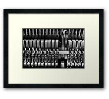Jacks and Backchecks Framed Print