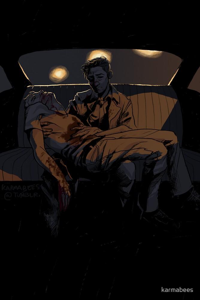 Backseat Pietà by karmabees