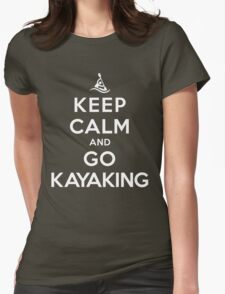 Keep Calm and Go Kayaking DS Womens Fitted T-Shirt