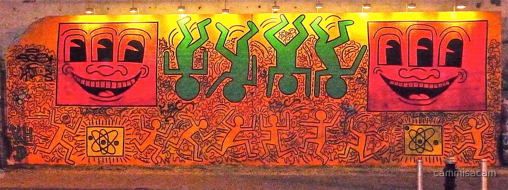 Keith Haring Mural Reproduction (2/1/09) by cammisacam