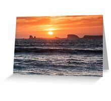 Sunset Crescent City II Greeting Card