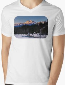 Winter wonderland sunrise Mens V-Neck T-Shirt