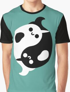 Yin Yang Narwhals Graphic T-Shirt