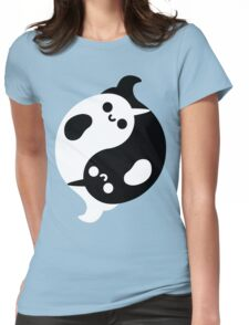 Yin Yang Narwhals Womens Fitted T-Shirt