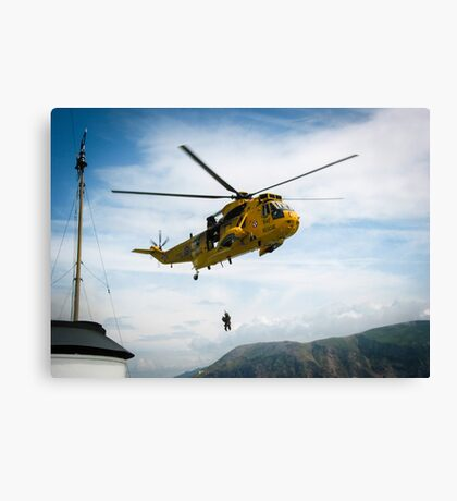 Helicopter at Sea Canvas Print