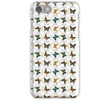 Pretty Butterfly Background iPhone Case/Skin