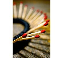 Playing With Matches Photographic Print