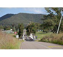 Vacy Bridge (1896) and Village, Vacy NSW Australia Photographic Print
