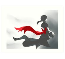 Red Ribbon Girl Art Print