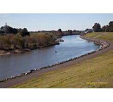 Hunter River looking downstream, Maitland, NSW Australia Photographic Print