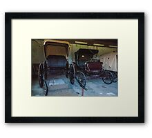 Carriages. Framed Print