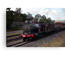 Steam Loco 3265 at Maitland NSW Australia (Dry Brushed) Canvas Print