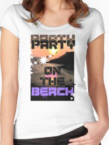 Beach View  Women's Fitted Scoop T-Shirt