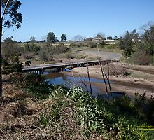Melville Ford Bridge, Maitland NSW Australia (Dry Brushed) by SNPenfold