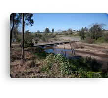 Melville Ford Bridge, Maitland NSW Australia (Dry Brushed) Canvas Print
