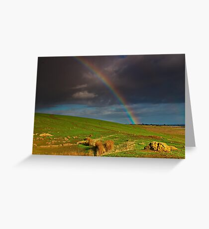 """The Rainbow And The Rock"" Greeting Card"