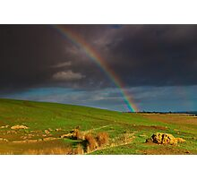 """The Rainbow And The Rock"" Photographic Print"