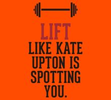 Lift like Kate Upton is spotting you Kids Clothes