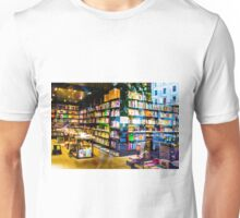 Book shop in Milan, Italy Unisex T-Shirt