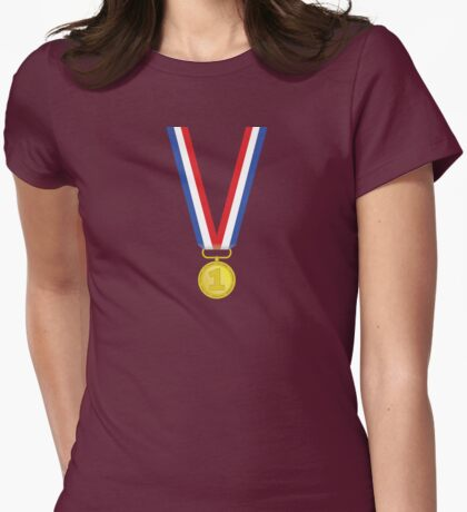 Medal | Gold Womens Fitted T-Shirt