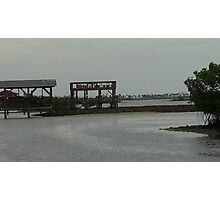 Low Tide Boat Lift Photographic Print