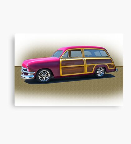 1950 Ford Woody Surf'n Wagon/Studio Canvas Print