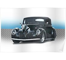 1938 Lincoln Zypher Custom Convertible Poster