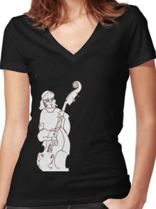 Richard Grace - hardest working bass player in town Women's Fitted V-Neck T-Shirt
