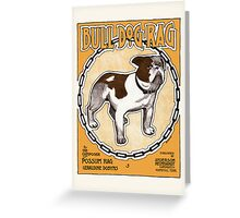 Bulldog Ragtime Vintage Sheet Music Greeting Card