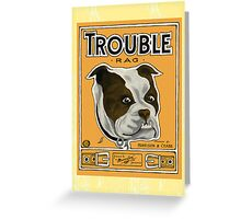 Trouble Rag Time Bull Dog Sheet Music Greeting Card