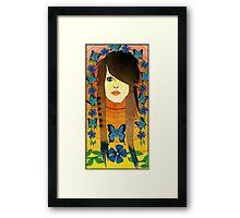 Emo Girl Framed Print