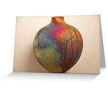 Maori Pottery Art Greeting Card