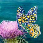 Summer Butterfly ipad case by Katherine Thomas