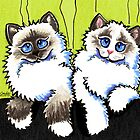 Pair of Dolls | Ragdoll Cats by offleashart