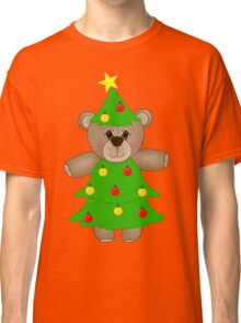 Cute Teddy Bear Dressed as a Christmas Tree Classic T-Shirt