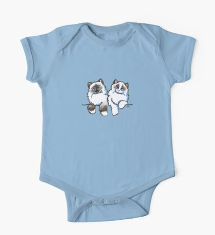 Pair of Dolls | Ragdoll Cats One Piece - Short Sleeve