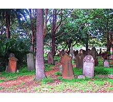 Old Graves 2 - Camperdown Cemetery NSW Photographic Print